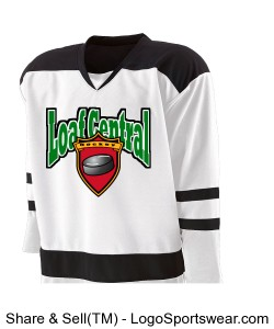 White Loaf Hockey Jersey Design Zoom